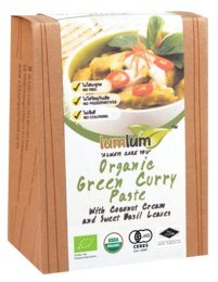 - Organic Thai Green Curry Paste with Coconut cream and Sweet Basil Leaves 100 g. (Pack of 2)