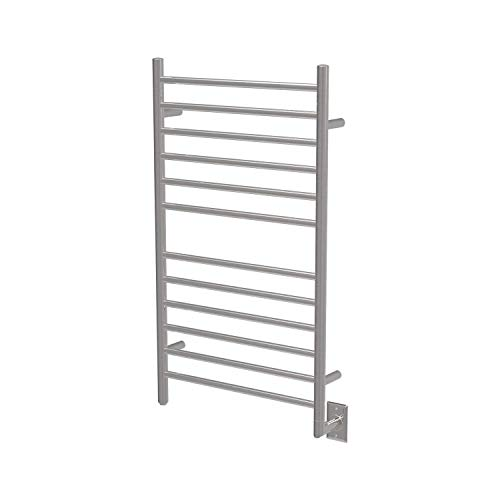 Amba RSWH-B Hardwired Radiant Square Towel Warmer, Brushed - Heated Rack Curved Towel