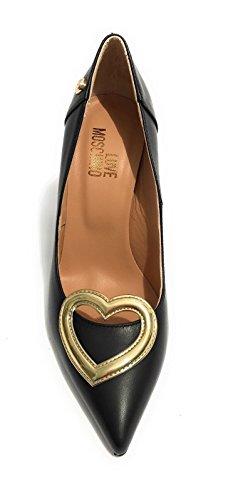 Zapatos Piel De Mujer Moschino Negro Para Vestir dwR5q6