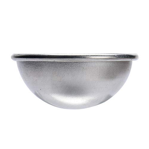 Yu2d  New Mould Aluminum Ellipsoid Cake Mold Bath Bomb Molds 2 Size(Silver B) ()