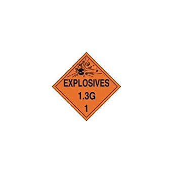 Health And Safety Hazard Sticker Explosive 1.3g Sticker Orange Glues, Epoxies & Cements