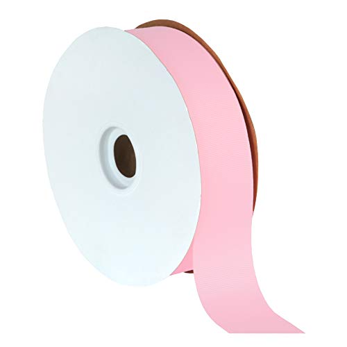 Offray Light Pink Grosgrain Ribbon - Berwick Offray 1.5
