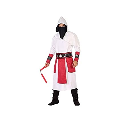 Atosa-56517 Disfraz Ninja, Color Blanco, M-L (56517: Amazon ...