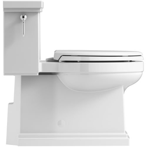 KOHLER K-3981-96 Tresham Comfort Height Skirted One-Piece Compact Elongated Toilet with Aquapiston Flush Technology and Left-Hand Trip Lever, Biscuit by Kohler (Image #2)