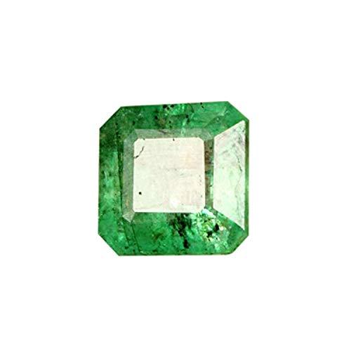- gemhub 3.00 Carat Square Cut 100% Natural Colombian Green Emerald Loose Gemstone for Mukti Purpose Use U-1019
