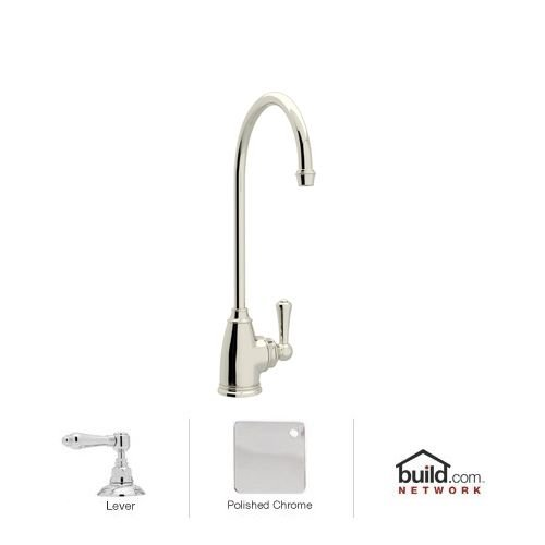 Rohl U.1625L-PN-2 Perrin and Rowe Traditional Cold Water Filter Faucet, Polished (Perrin And Rowe Nickel Handles)