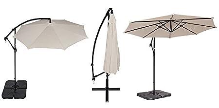 10-Foot Coolaroo Round Cantilever Umbrella Terracotta
