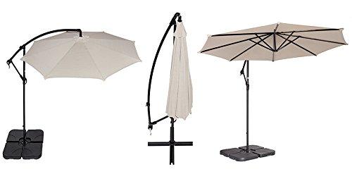 Amazon.com : Coolaroo 10 Foot Round Cantilever Freestanding Patio Umbrella,  Smoke : Garden U0026 Outdoor