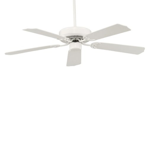 Savoy House 52-FAN-5W-WH Builders Select 52-Inch Ceiling Fan, White Finish with White Blades, Appliances for Home