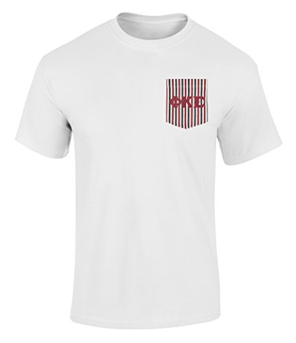 Phi Kappa Sigma American Flag Theme Pocket T Shirt with Twill Letters White L