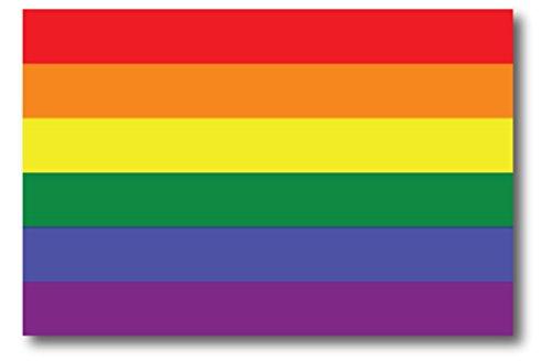 Gay Pride Rainbow Flag Car Magnet Decal - LGBT - 4x6 - Waterproof Lesbian Gay Bisexual Transexual