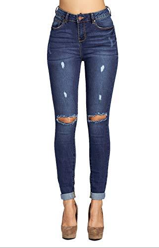 (Blue Age Women's Well Stretch Destroyed Denim Skinny Jeans (JP1083CTA_MD_11))