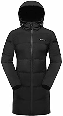 Beinia Valuker Womens Long Warm Down Jacket Light Weight Puffer Coat Hooded