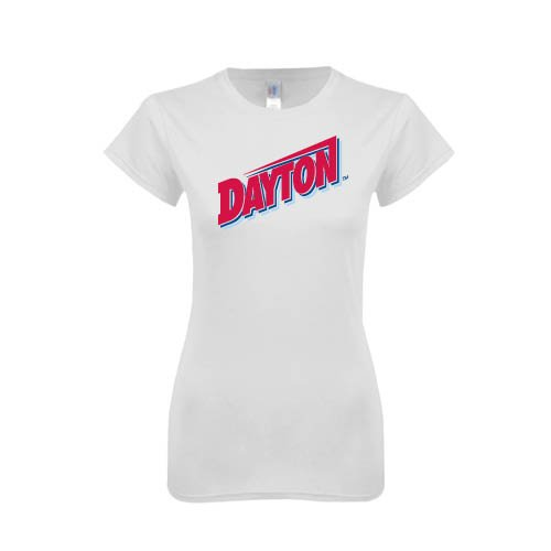 Dayton Next Level Ladies SoftStyle Junior Fitted White Tee 'Dayton'