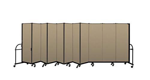 (Screenflex Heavy Duty Portable Room Divider (HFSL6011-DW) 6 Feet High by 20 Feet 5 Inches Long, Designer Desert Fabric)
