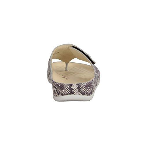 Vital 0902-7404- Damenschuhe Pantolette / Zehentrenner, Beige, leder, absatzhöhe: 25 mm