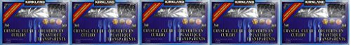 Kirkland Signature Crystal Clear Cutlery csvlyG, 5Pack of 360 Units by Kirkland Signature