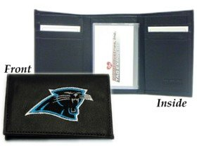 - Carolina Panthers Embroidered Leather Tri-Fold Wallet