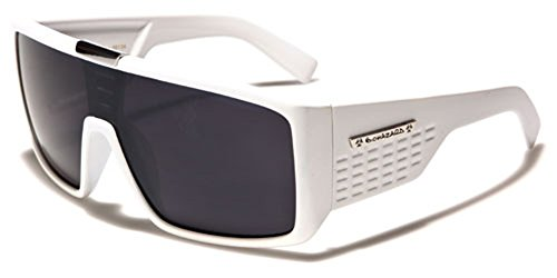 Biohazard Oversized Flat Top Men's Sunglasses Shield - Style Shield Sunglasses