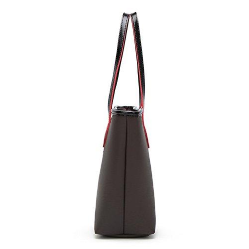 Des Top À handle Dacron Main Femme sacs Noir Sacs Zippers Aalardom CtqZx