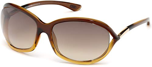 Tom Ford 0008 50f Brown Gradient Jennifer Butterfly Sunglasses Lens Category 3