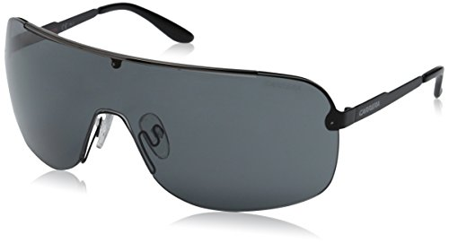 Carrera Men's CA94S Shield Sunglasses, Black Dark Ruthenium & Gray, 99 - Carrera Shield Sunglasses