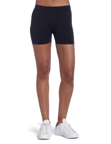 Bollé Women's Solid Panel Seamless Tennis Short, Black, Medium