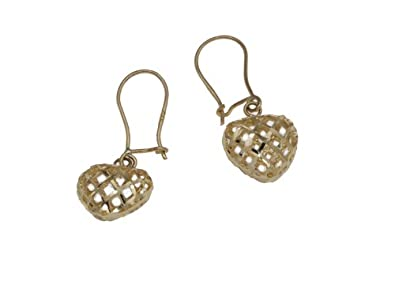 Adara 9 ct Yellow Gold Heart Drop Earrings hUfaE9M