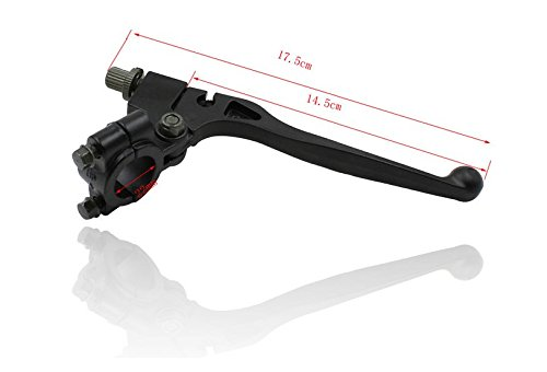 7//8 Pit Palanca de freno de embrague delantero para Dirt Bike marco con soporte de abrazadera para 90//110//125 cc