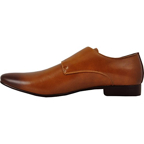 KLEIN BRAVO Lining Shoe 5 Tan Fashion and Buckles Tan with Men Leather Loafer Dress rwxqUr