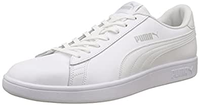 Puma Smash V2 L, Zapatillas Unisex Adulto, Blanco (Puma White-Puma Black 1), 43 EU