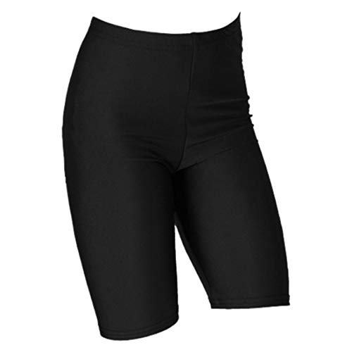 janisramone Girls Boys New Nylon Lycra Stretchy Kids Dance Sports Cycling Shorts Game PE School Short Pants