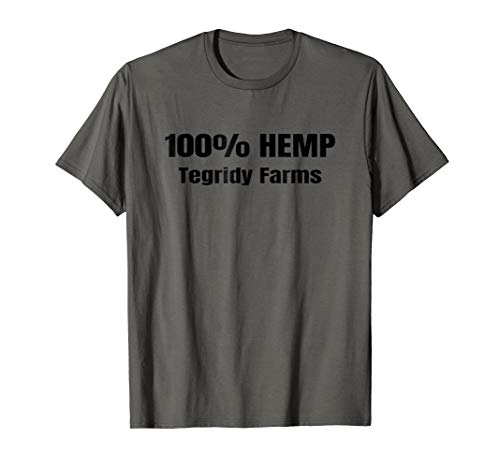 (Funny 100% Hemp Tegridy Farms Weed Farming Gift T-shirt)