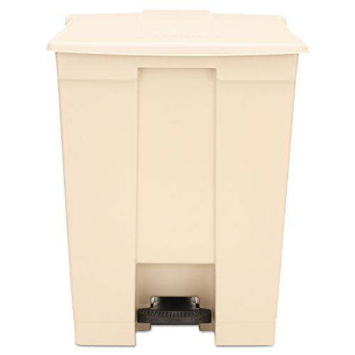- Rubbermaid Commercial FG614500BEIG Step-On Lid Wastebasket, 18-gallon, Beige