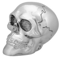 Chrome Skull Shift Knob Collectible Figurine