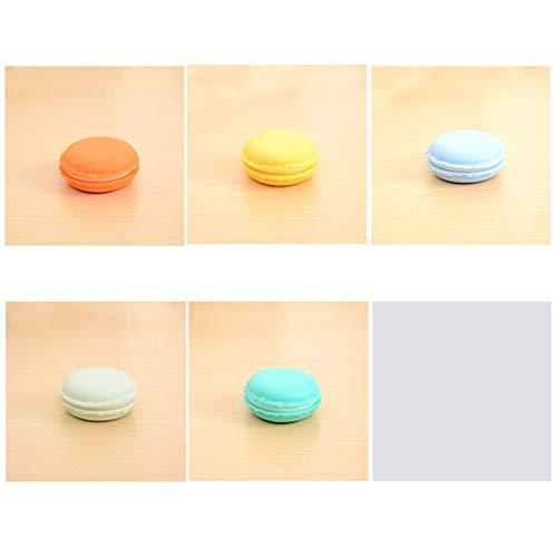 SEN Carino Candy Color Macaron Scatola portapillole Porta giochini Organizer per Gioielli Blu Piccolo