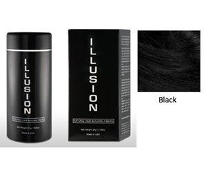Illusion Hair Building Fibers, 25g / 0.78 oz., Black