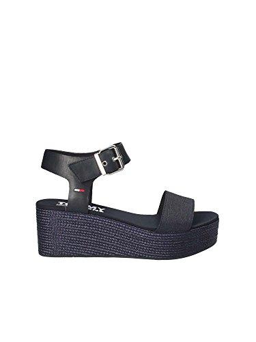 de Azul Tommy Zapatos Deportivo 403 Hilfiger Las Dril Sandalias de Plataforma EN0EN00221 Mujeres AApwXa