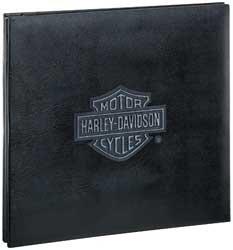 Harley-Davidson Black Distressed 12''x12'' Scrapbook Album by EK Success