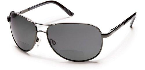 Suncloud Aviator +2.00 Polarized Reader Sunglasses, Gunmetal