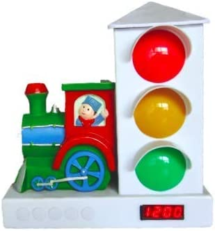 Custom Quest Train Conductor Stoplight, Alarm Clock for Kids