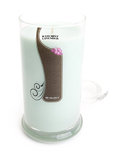 Iced Mint Lavender Candle - Large Mint 16.5 Oz. Highly Scented Jar Candle - Made with Essential & Natural Oils - Fresh & Clean Collection