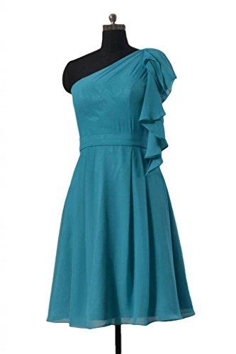 Daisyformals Une Robe De Mariée En Mousseline De Soie Partie De L'épaule Robe De Cocktail Vintage (de Bm261) # 37 Bleu Royal