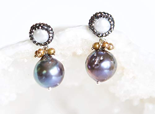 Peacock Baroque Freshwater Cultured Pearl Drop - Pearl Peacock Drop Cultured