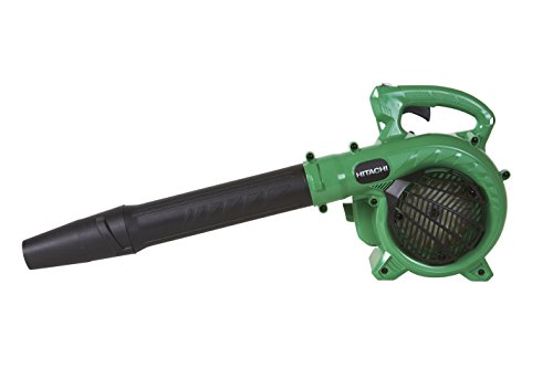 (Hitachi RB24EAP Gas Powered Leaf Blower, Handheld, Lightweight, 23.9cc 2 Cycle Engine, Class Leading 441 CFM, 170 MPH, Commercial Grade, 7 Year Warranty)