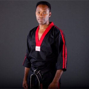Blitz Classic Poly Baumwolle Freestyle Top, schwarz/rot, 7/200cm 7/200cm