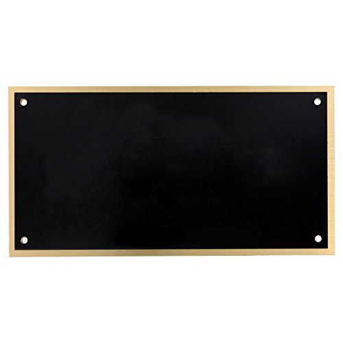 (Blank Large Black-on-Brass Engraving)