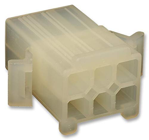 15-31-1061 - Connector Housing, 5025 Series, Plug, 6 Positions, 4.8 mm, Molex 5006 Series Pin Contacts, (Pack of 50) (15-31-1061)