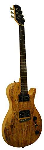 Kona Guitars KE55N KE55 Series Electric Guitar with Spalted Spruce body