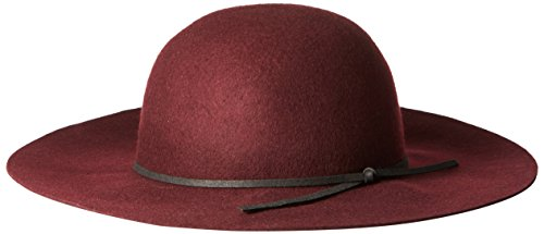 San Diego Hat Company Women's Floppy With Round Crown and Faux Suede Band, Merlot, One - Diego Eyewear San